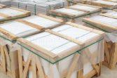 Estremoz marble tiles crates