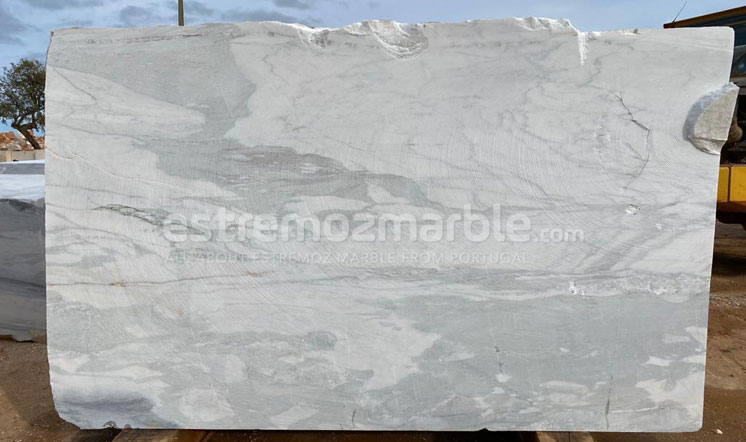 Portugal white marble block